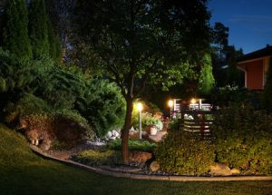 44553975 Illuminated Home Garden Evening Patio Lights Illumination