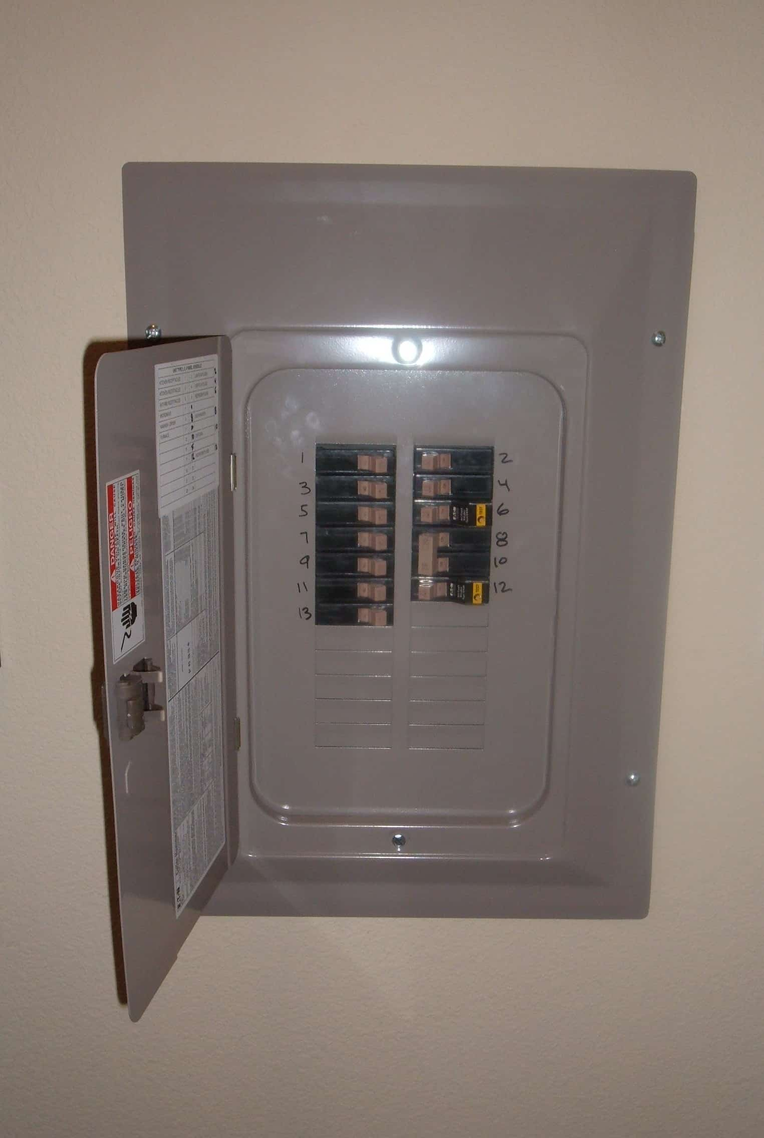 How To Reset A Tripped Circuit Breaker Switch On A Fuse Box Panel